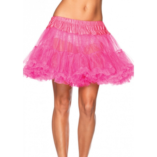 Neon roze onderrok petticoat luxe