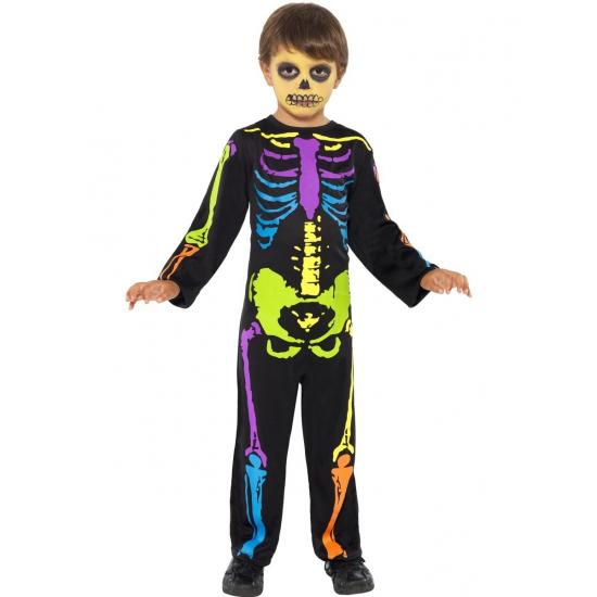Neon skelet kostuum jongens