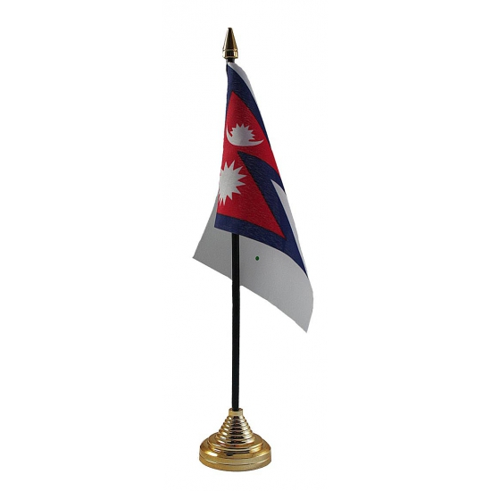 Nepalese tafelvlag met standaard