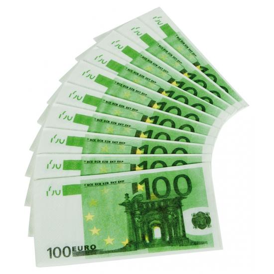 Nepgeld servetten 100 Euro