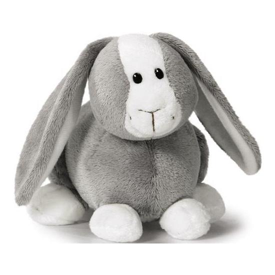 Nici knuffel konijn grijs 16 cm