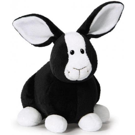 Nici knuffel konijn zwart 16 cm