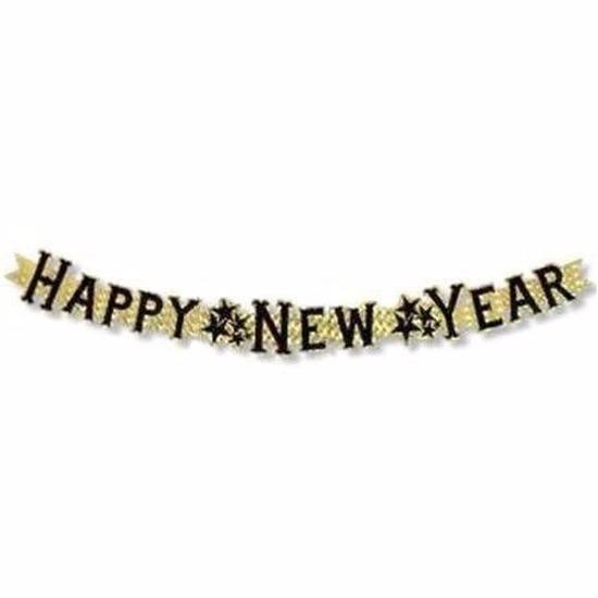 Nieuwjaar decoratie slinger 90 cm