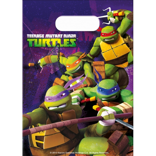 Ninja Turtles feestzakjes 6 stuks