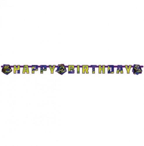 Ninja Turtles verjaardag letterslinger