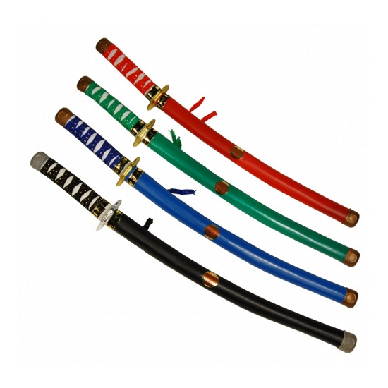 Ninja zwaard in schede groen
