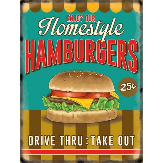 Nostalgisch bord Hamburgers