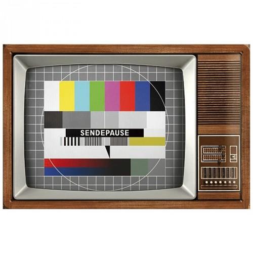 Nostalgische muurplaat Retro TV 20 x 30 cm