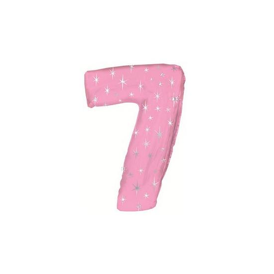 Nummer ballonnen 7 roze
