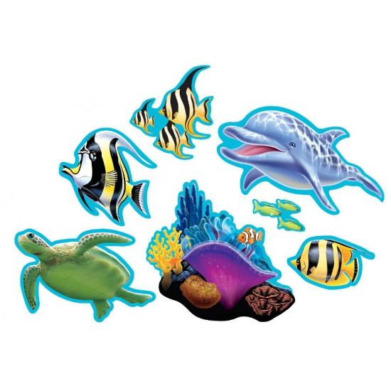 Oceaan thema decoratie 7 stuks