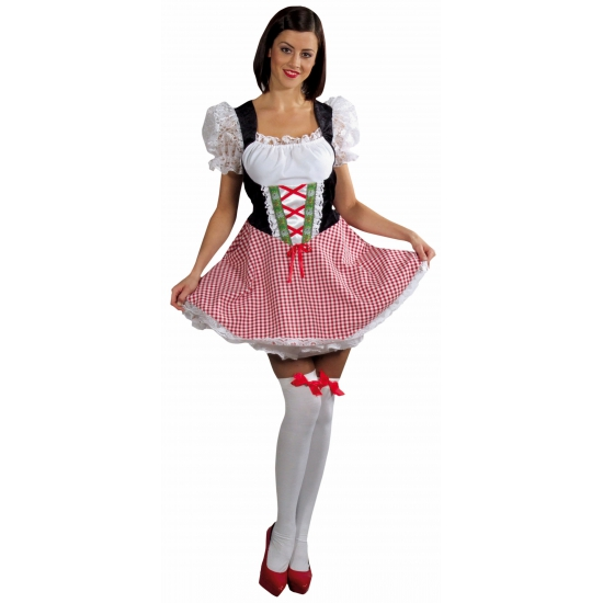 Oktoberfest jurkje rood voor dames