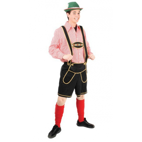 Oktoberfest tiroler broek zwart heren