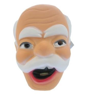 Opa masker met snor
