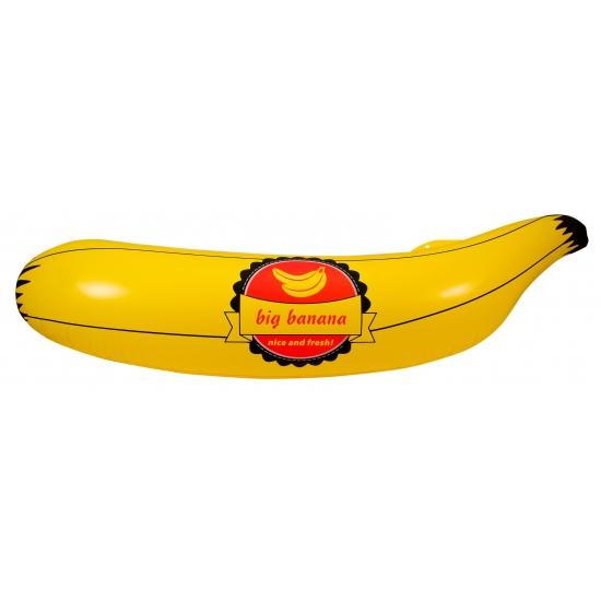 Opblaasbare banaan met sticker 70 cm