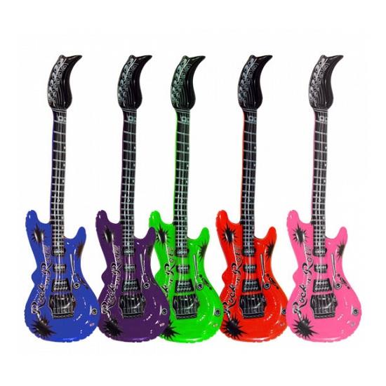 Opblaasbare gitaar blauw 55 cm