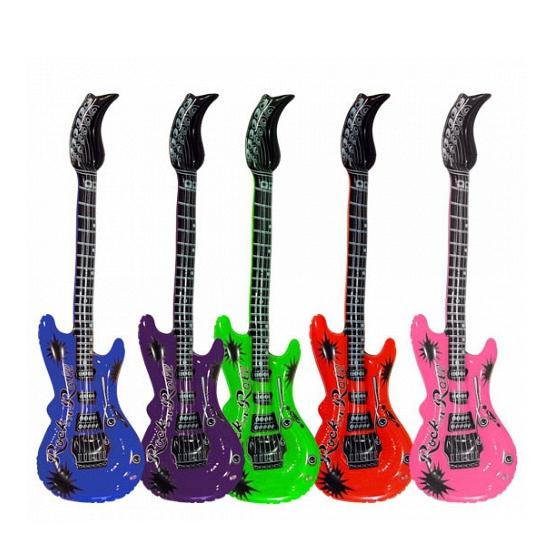 Opblaasbare gitaar lime 55 cm