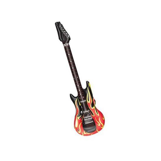 Opblaasbare gitaar met vlammen 106 cm