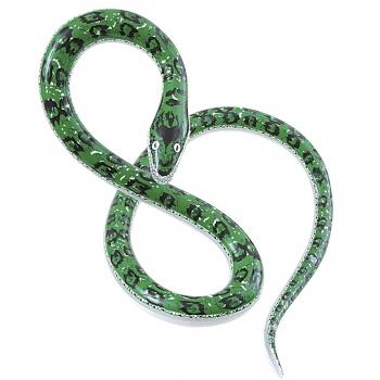 Opblaasbare groene slang 152 cm