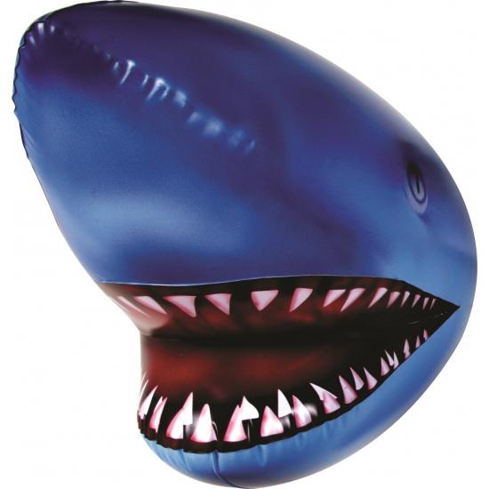 Opblaasbare speelgoed haaienkop blauw 44 cm