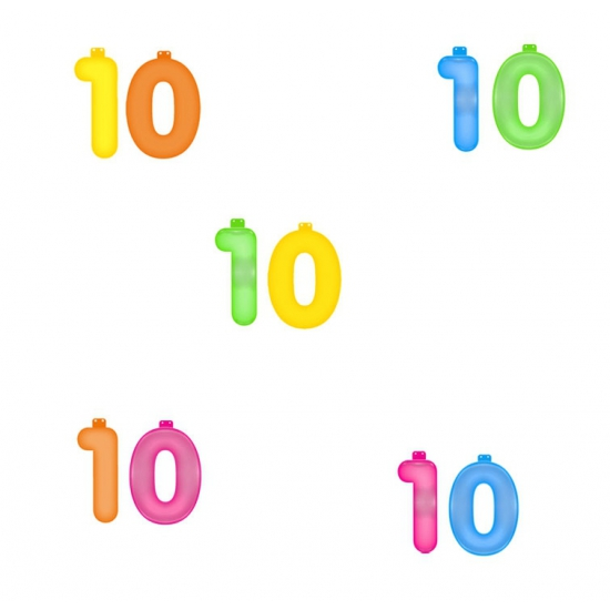 Opblaascijfers 10