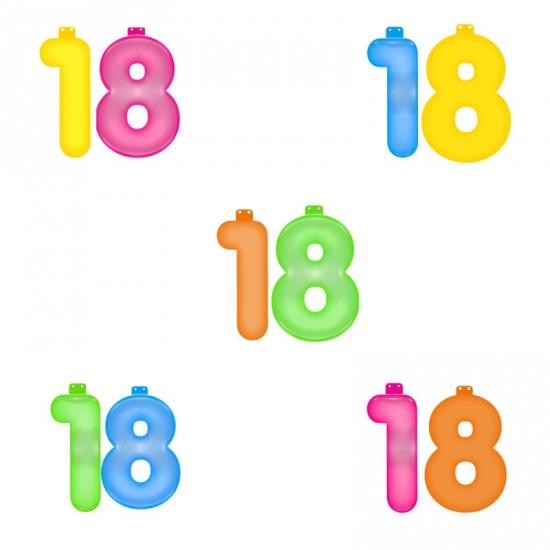 Opblaascijfers 18 jaar