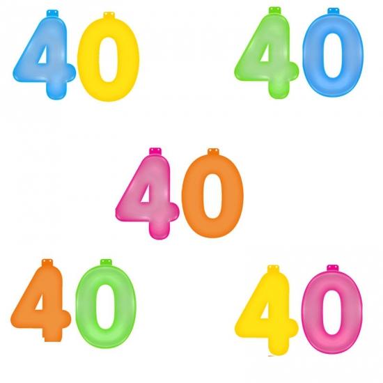 Opblaascijfers 40