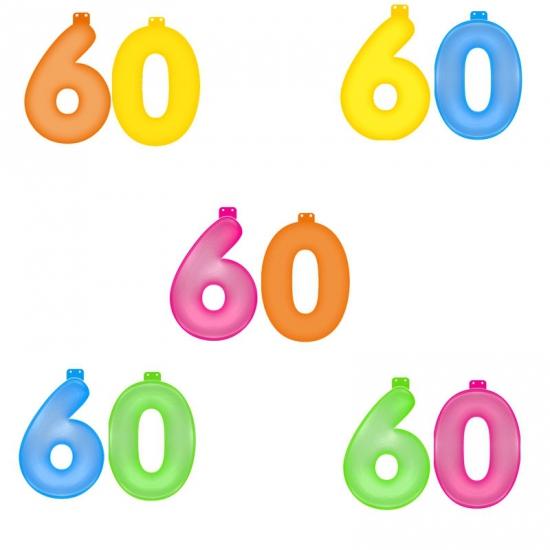 Opblaascijfers 60