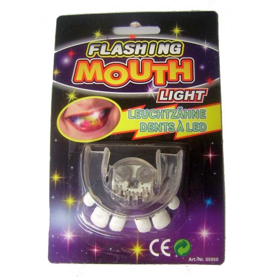 Oplichtend scheve tanden gebit LED lampjes