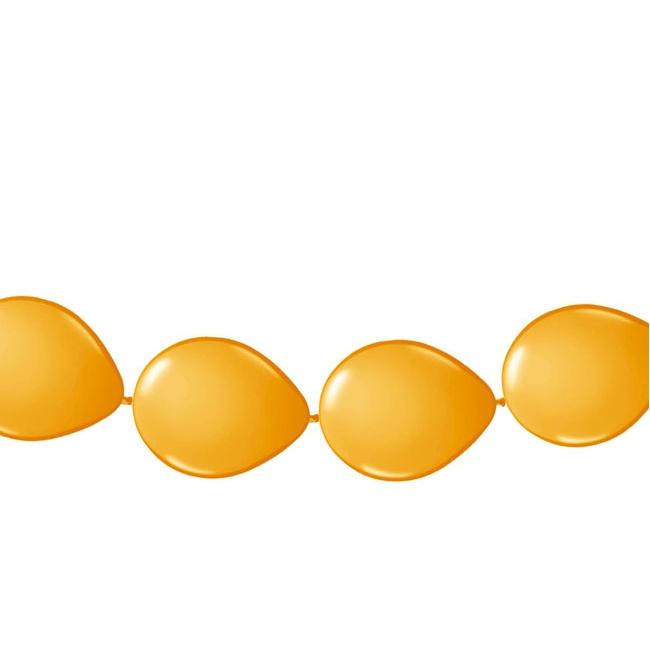 Oranje ballonslingers 3 meter