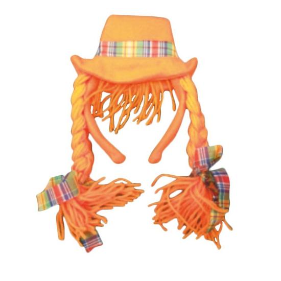 Oranje diadeemhoedjes