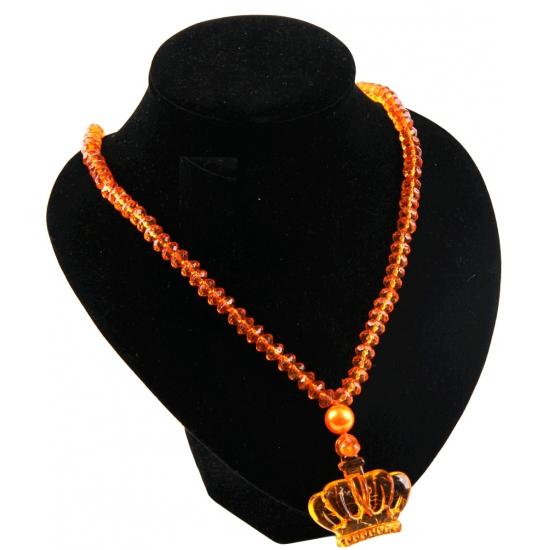 Oranje ketting met kroon