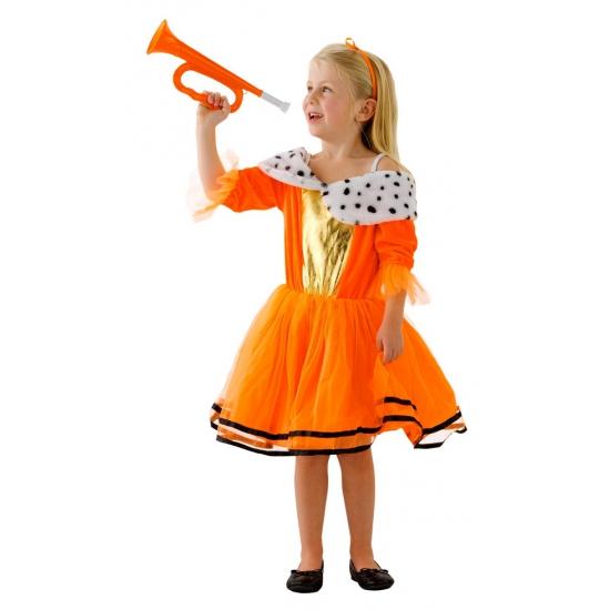Oranje kleding Koninginnenjurk voor kids