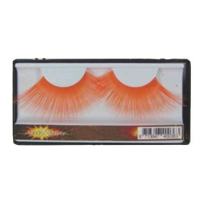 Oranje kleurige mega wimpers