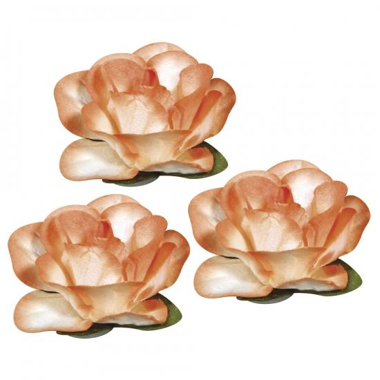 Oranje knutsel bloemetjes 1 5 cm