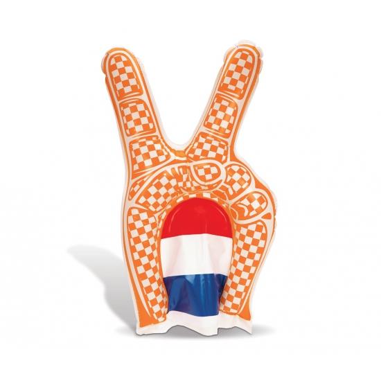 Oranje opblaasbare supporters hand