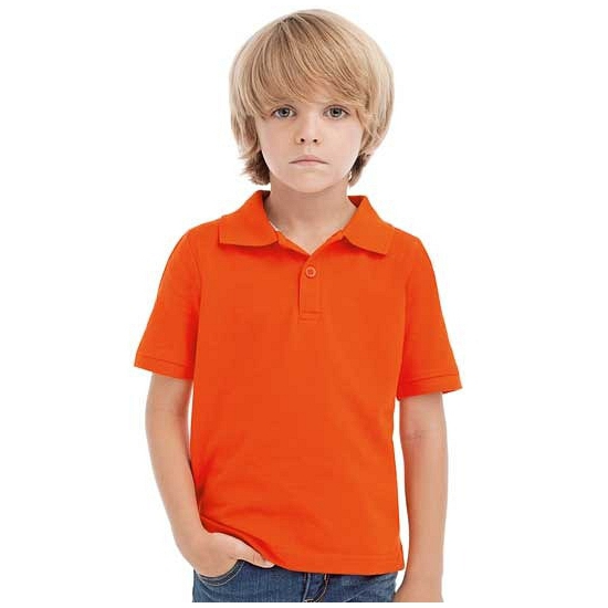 Oranje polo supporters shirt kids