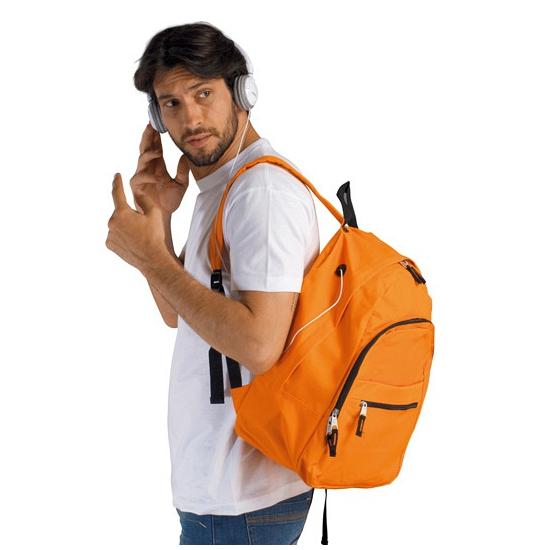 Oranje polyester rugzak 24 liter voor volwassenen