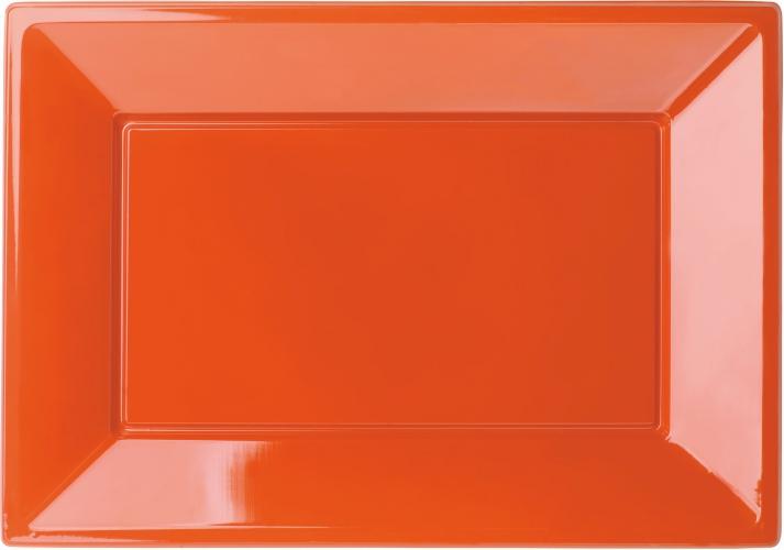 Oranje rechthoekige feestbordjes