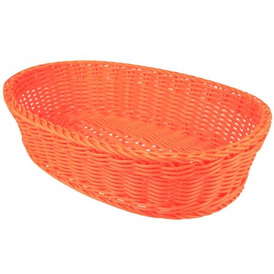 Oranje rieten mandje 36 cm