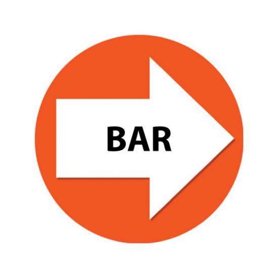 Oranje route aanduiding stickers Bar
