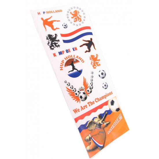 Oranje supporters raamstickers