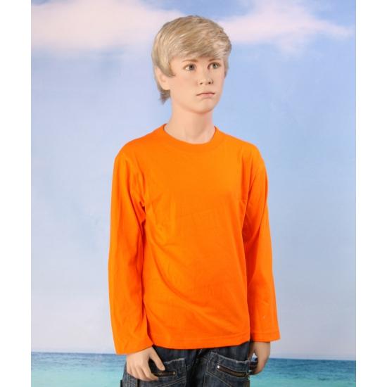 Oranje t shirt voor kids