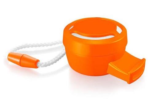 Oranje toetertje met koord