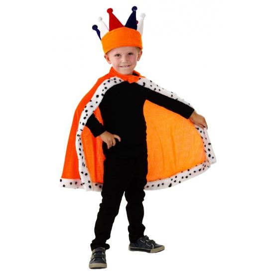 Oranje verkleed cape voor kinderen