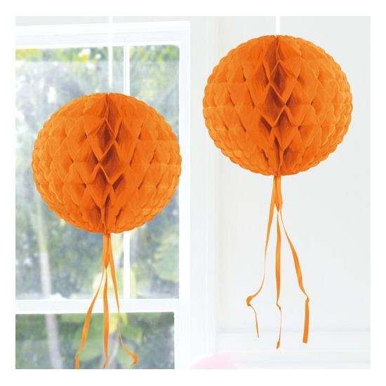 Oranje versiering bol 30 cm