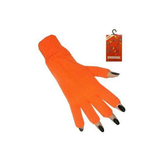Oranje vingerloze handschoen
