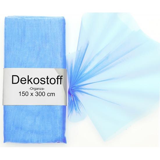 Organza stof lichtblauw op rol 150 x 300 cm