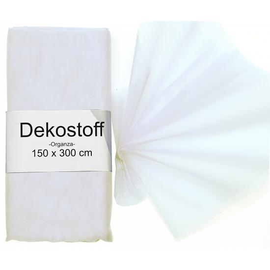 Organza stof wit op rol 150 x 300 cm