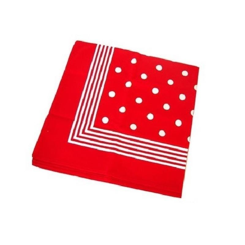 Ouderwetse zakdoek rood met wit