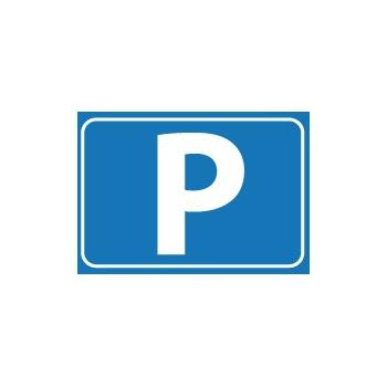 P sticker A8 formaat
